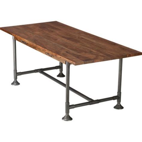 Cb2 Dining Room Table Taking A Cue From This Cb2 Dining Table Plumbing Pipes Would Make A Really Cool Base For A