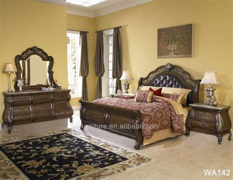 arabic bedroom set arabic antique solid wood bedroom furniture wa138