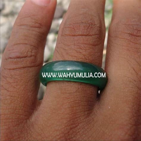 Kristopas Australia batu cincin green chryssoprase kode 187 wahyu mulia