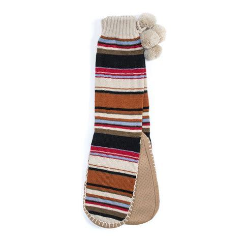 muk luks slipper socks muk luks slipper socks with poms s ebay