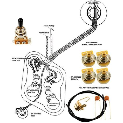 allparts ep 4148 000 wiring kit for epiphone music123