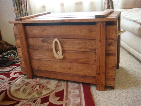 wooden toy box extra tall blanket chest  monogram