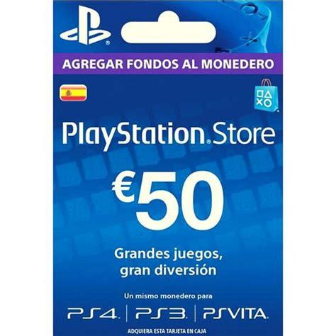 Gift Card Psn Chile - psn espa 241 a 50 euros playstation store scheda up