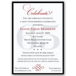 classic 65th birthday celebrate party invitations paperstyle