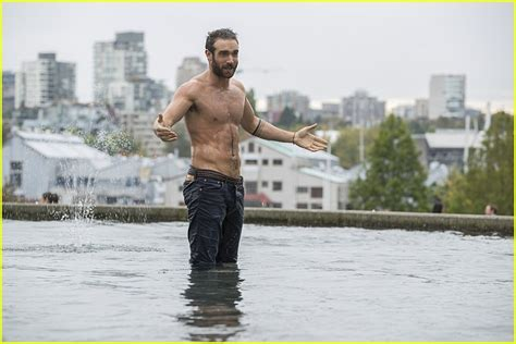 joshua sasse tattoos xavier gets shirtless on tonight s no tomorrow photo