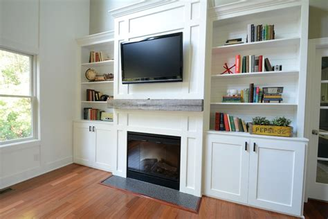 living room built in cabinets decor and the dog