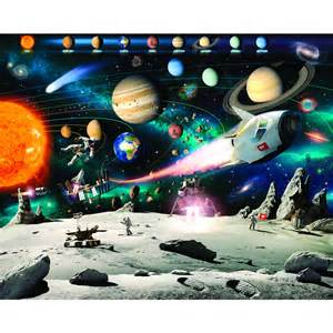 Lego Wall Stickers For Kids Rooms walltastic space adventure 8ft x 10ft at wilko com