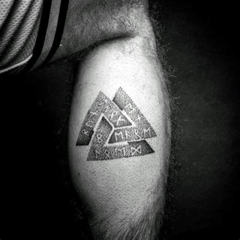 valknut tattoo meaning 50 valknut tattoo designs for men norse mythology ink ideas