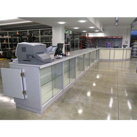 banco negozio usato banco cassa bancone vendita per negozi lineare in metallo