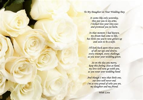 poems for from a4 poem from to on wedding day can also
