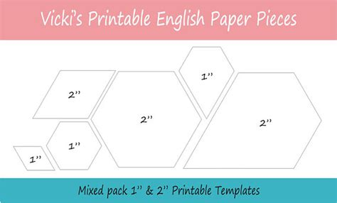 printable epp shapes 1 2 quot printable mixed shapes for english paper piecing