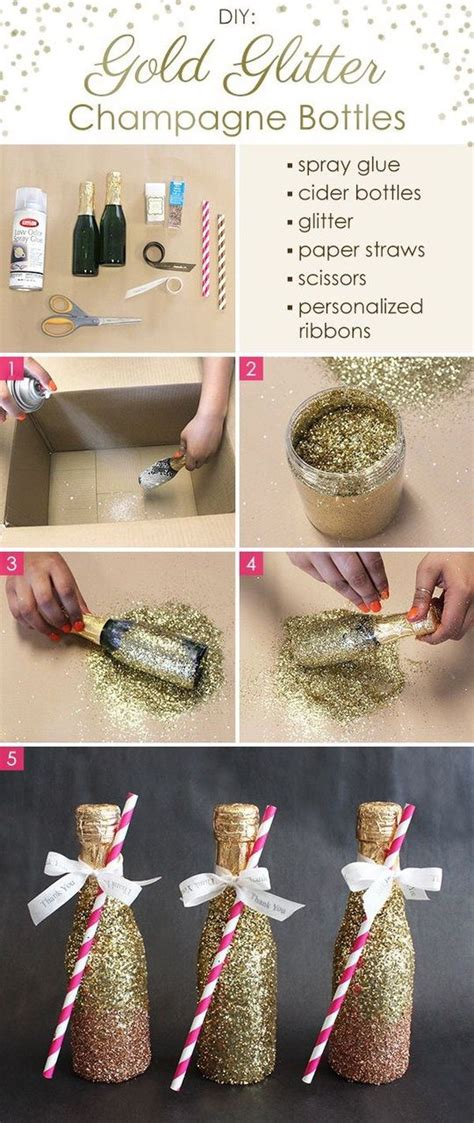 do it yourself new year decorations birthday bottle chagne crafts diy do it