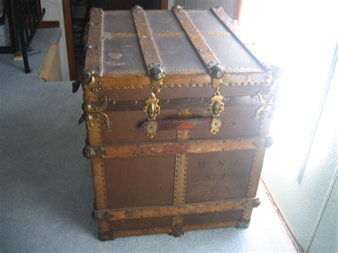 wooden chest trunk antique wooden chest travel storage trunk item 305 for