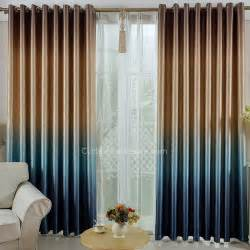 and Blue Gradient Color Cool Thick Polyester Blackout Thermal Curtains