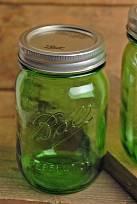 ball vintage collection green pint mason jars