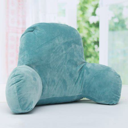 Microplush Pillow - micro plush back support with arms seat bed reading rest