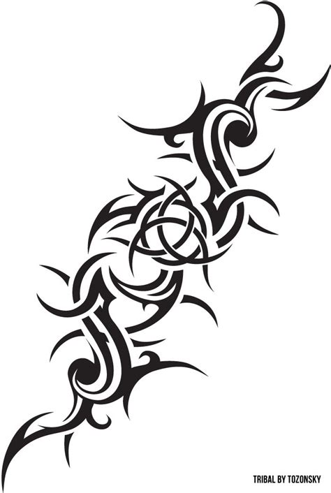 tribal trinity tattoo tribal inspired with celtic symbol was drawing