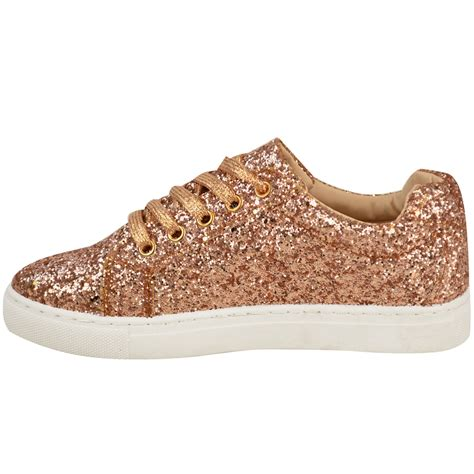 sparkly slippers for womens flat lace up glitter sparkly trainers