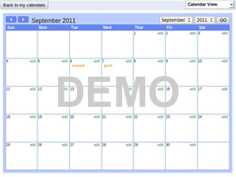 event calendar special planner
