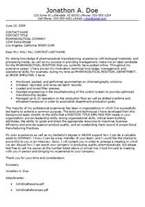 cover letter for pharmaceutical pharmaceutical cover letter