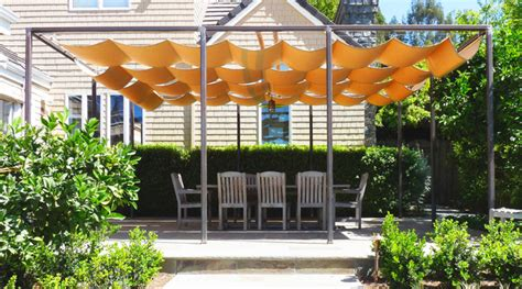 retractable sun shade covered terrace traditional