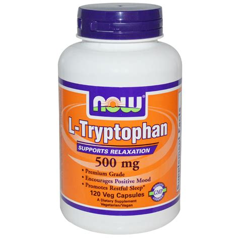 supplement l tryptophan now foods l tryptophan 500 mg 120 veggie caps iherb