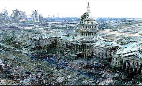 white house destroyed washington destroyed by terrorist nuke