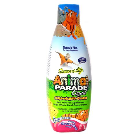 Natures Plus Animal Parade Children Multivitamin 8 Oz animal parade liquid multimitamin for children by nature s plus 60 servings