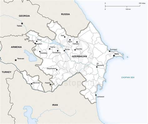 political map of azerbaijan vector map of azerbaijan political one stop map