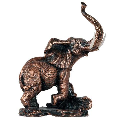 elephant statue copper finish