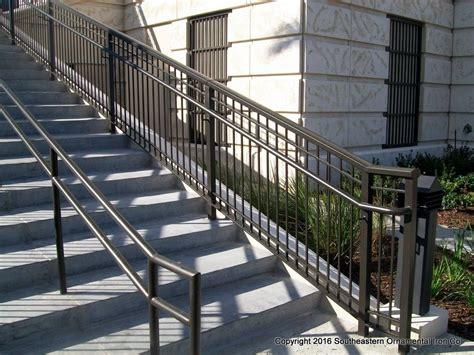 Aluminum Handrails Exterior aluminum stair railing southeastern ornamental iron works