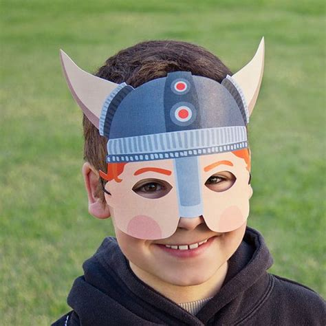 printable viking mask viking paper mask kids halloween costume viking