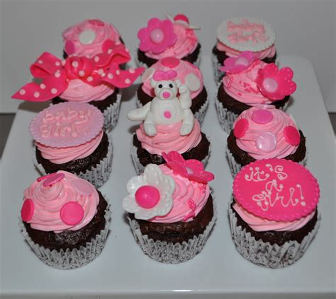 Baby Shower Pink Cupcakes by Coolest Cupcakes Pink Baby Shower Cupcakes