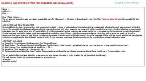 Offer Letter Sle For Sales Executive Offer Letter Format For Sales Manager Letter Format 2017