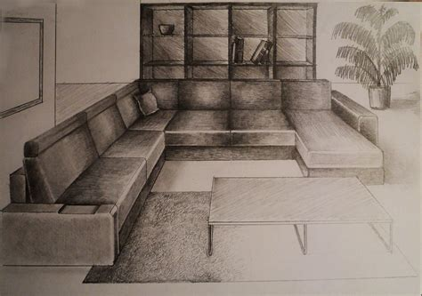one point perspective living room how to draw one point perspective living room furniture