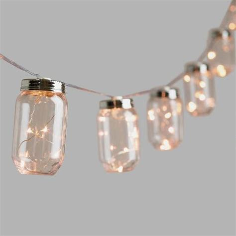 firefly string lights jar firefly 10 bulb battery operated string lights