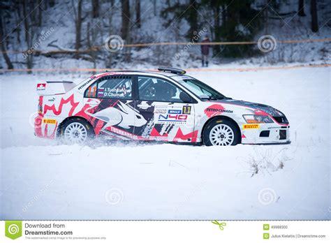 2015 mitsubishi rally car mitsubishi lancer evo ix rally car editorial image image