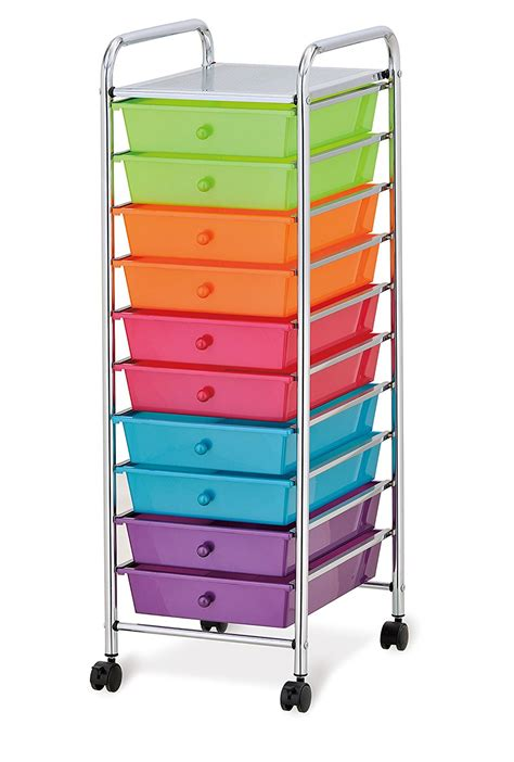 colored drawer cart seville classics 10 drawer organizer cart with drawers