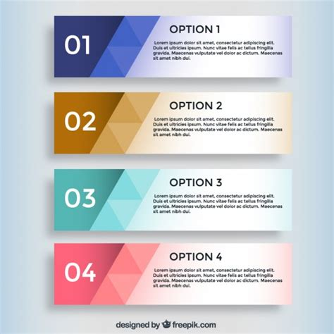 Geometric Infographic Banners Vector Free Download Table Banner Template
