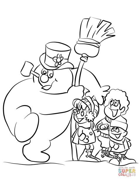 frosty the snowman coloring pages frosty the snowman coloring page az pages sketch coloring page