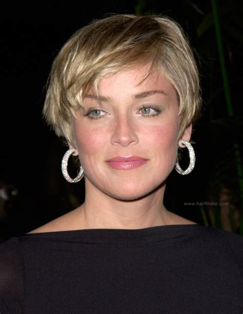 Sharon Stone   Longer pixie with a tapered nape