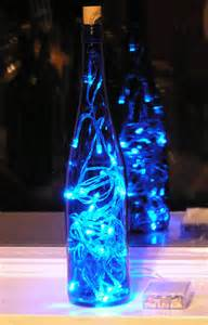 lights in a wine bottle blue wine bottle light with blue led lights battery operated