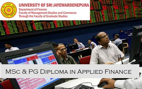Mba In Of Sri Jayewardenepura by M Phil In Sciences Two Years Time