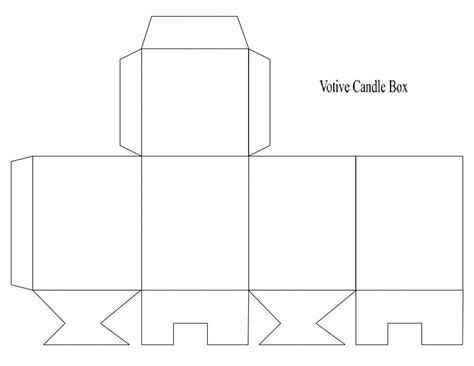 Votive Card Template by Box Template Votive Candle Arts And Crafts
