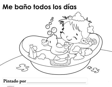 imagenes para colorear utiles de aseo personal dibujos de higiene personal para colorear
