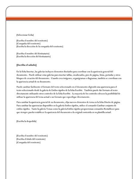 plantilla para carta formal word cartas office