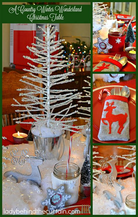 country winter wonderland christmas table