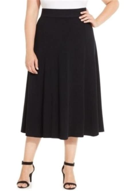 charter club charter club plus size pull on a line skirt