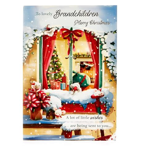 signature collection christmas card lovely grandchildren card factory