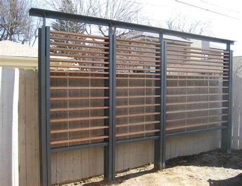 Steel Trellis Metal And Wood Slat Modern Trellis Exterior Improvements